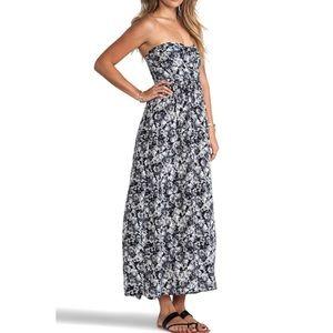 Zinke Zoe Dress 💯 Silk Floral Maxi Dress Small